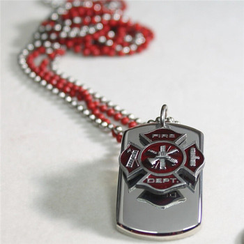 Firefighter maltese cross charm 3d solid stainless dog tag necklace firefighter maltese cross charm 3d solid stainless dog tag necklace aloadofball Gallery