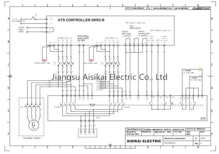 Fabulous Aisikai Skr2 B Lcd Ats Generator Controller Automatic Transfer Wiring Digital Resources Remcakbiperorg