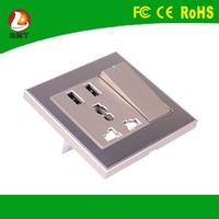 Luxury furniture outlet 13amp electric switched sockets 220v wall socket with USB port for home/hotel/office