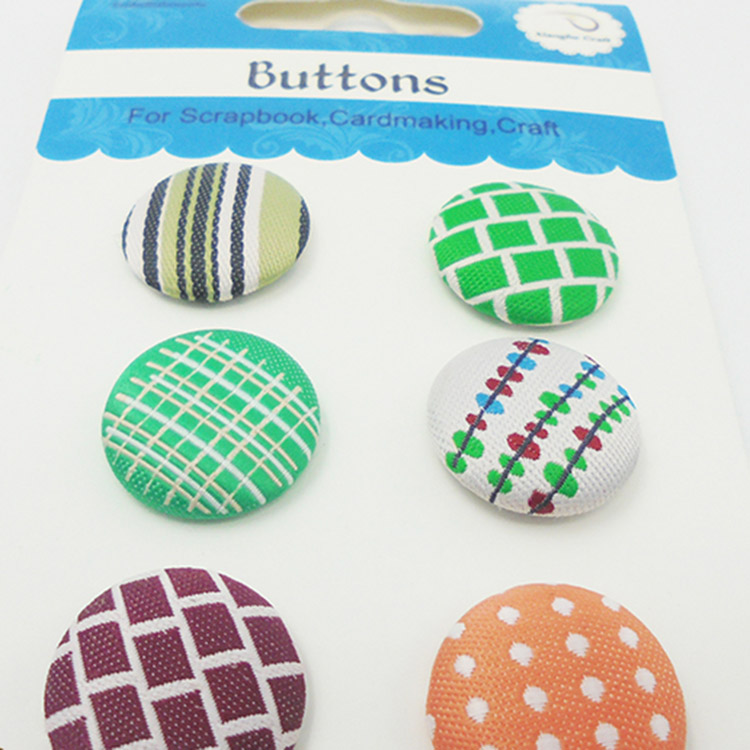 New arrival colorful bright style fabric button fashion button