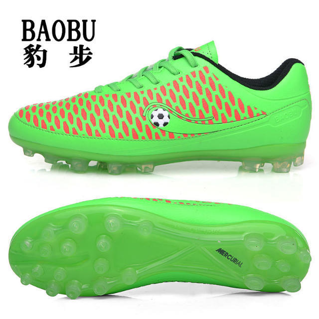 green top quality kids and adult unisex sports football shoes/jicy anti slip durable football sports shoes