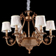 Wholesale French style multi lamp glass ceiling large chandelier pendant light