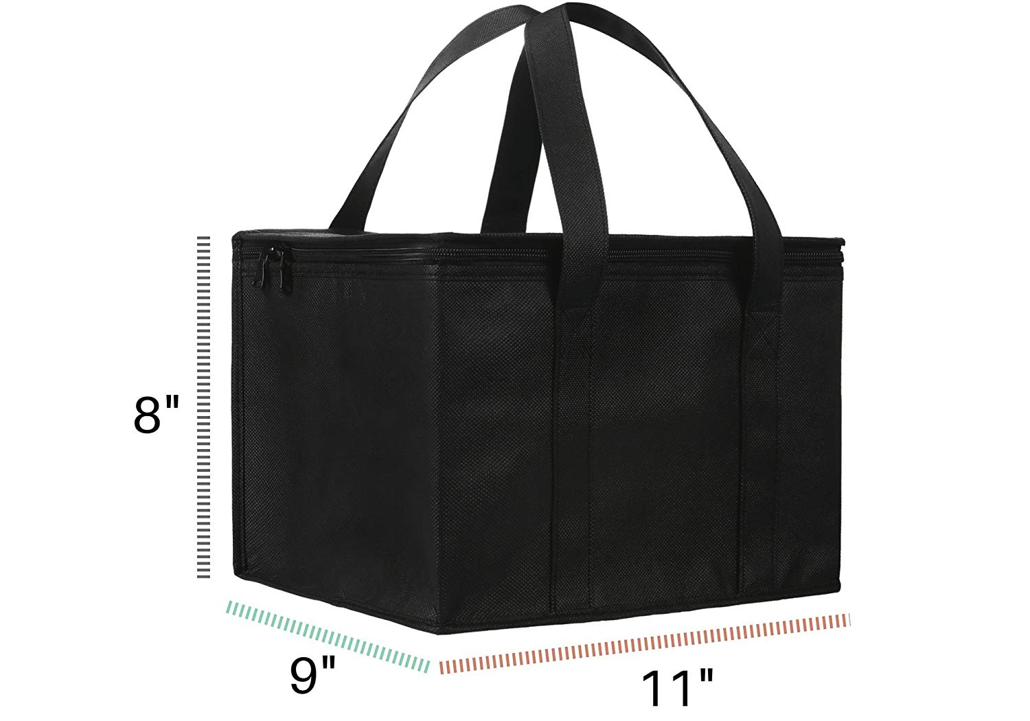 Reusable Thermal Insulated Grocery Cool Carry Cooler Lunch Bag For Frozen Food