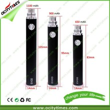 100% Grade A ego battery 1800mah adjustable battery evod kit Top Selling evod twist 2