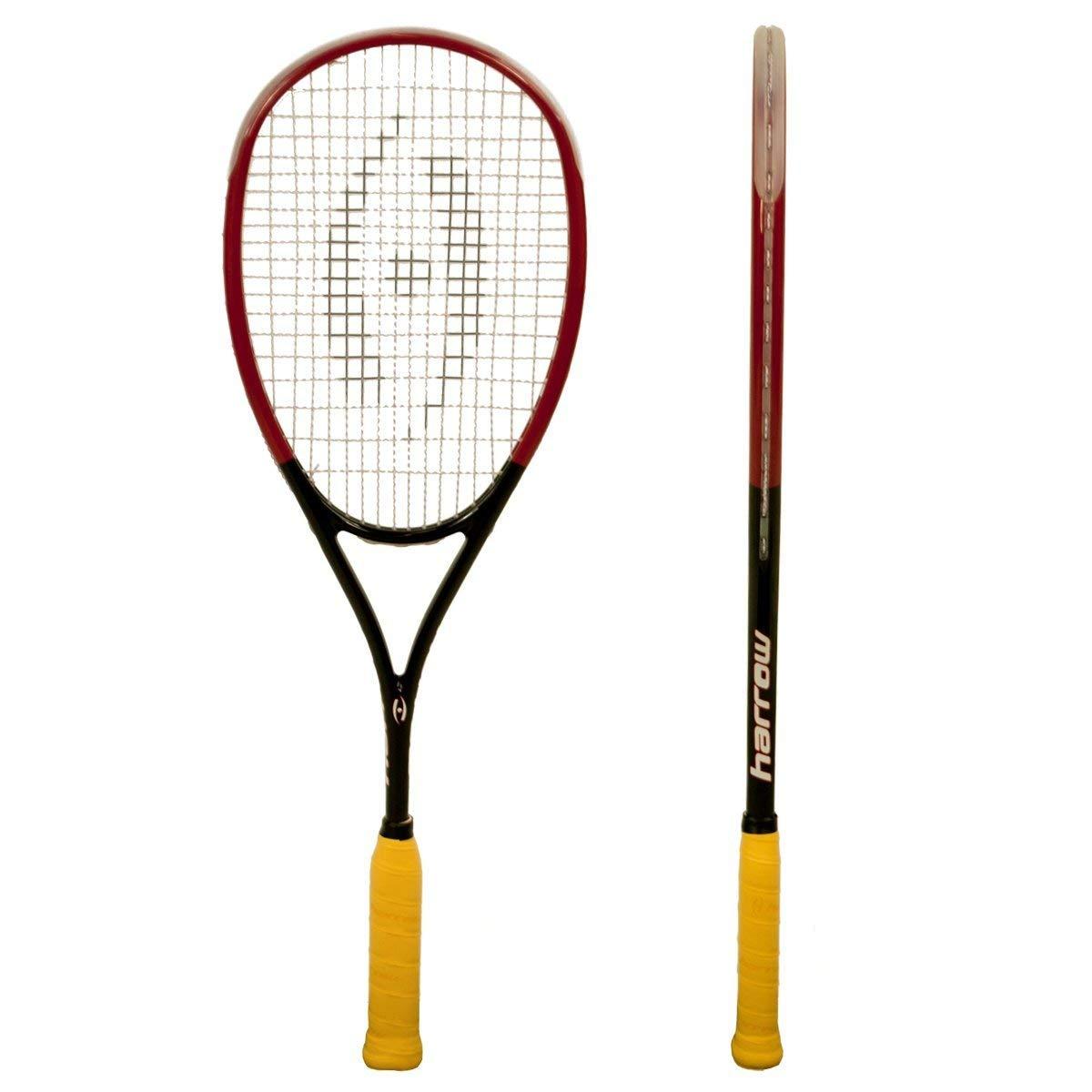 Harrow 65920502 2016 M-140 Squash Racquet, Black/Red/White