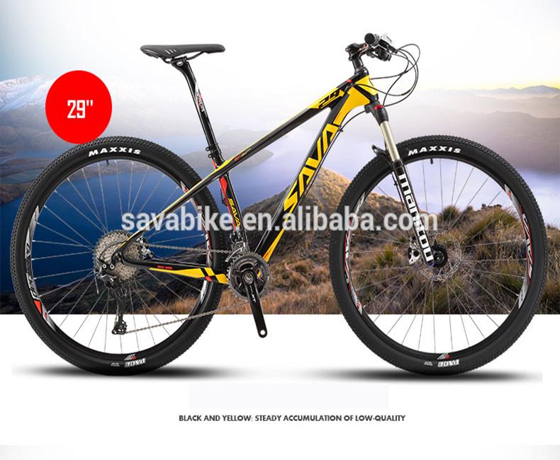 oem china bicycle carbon fiber frame bicycle make in china factory direct sell cheap price bicycle 29er, Black white;black yellow;black grey