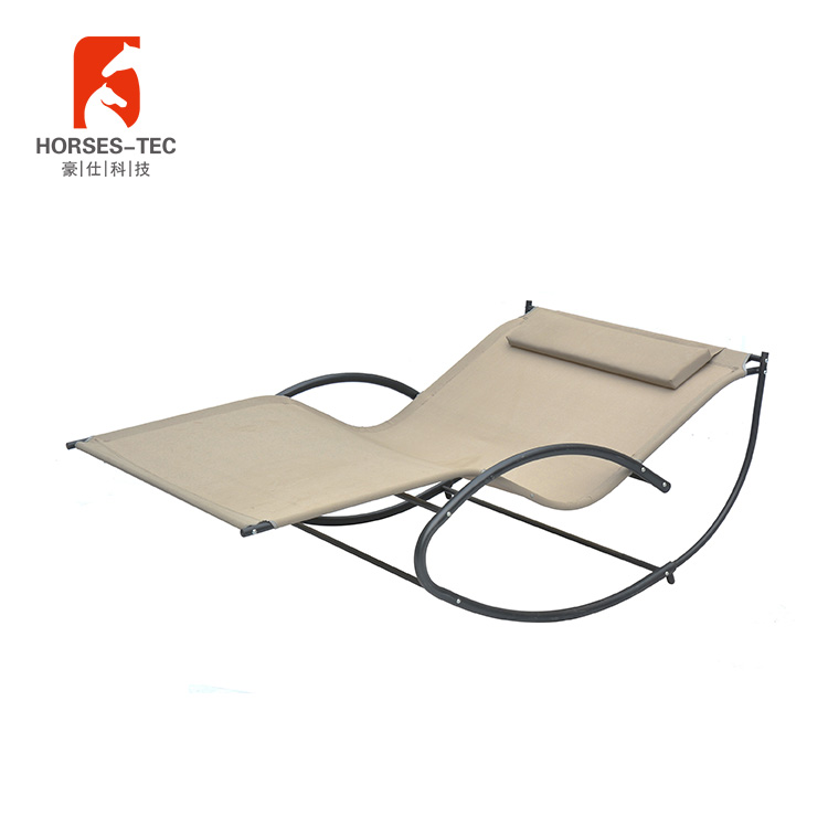 Draagbare tuin camping hangmat met zware stalen frame stand
