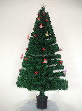180cm/6FT Shining Star Fancy White Fiber Optic Christmas Tree With Red Fruit and Butterfly