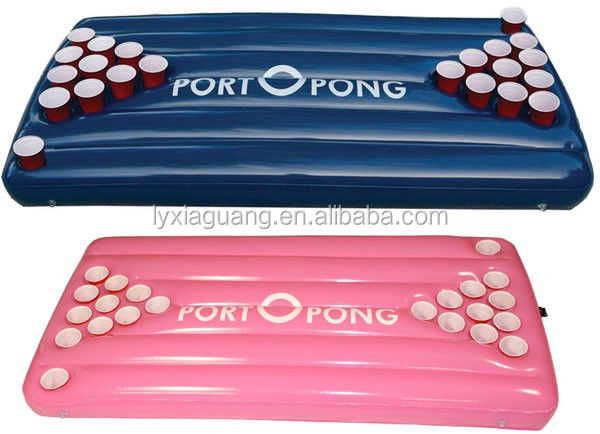 PVC inflatable pool float bed beer pong