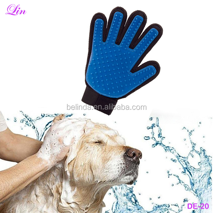 Free Shipping by DHL/FEDEX/SF 1 Pc Dog Massage Hair <strong>Removal</strong> Grooming Pet Cleaning Glove