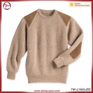 China supplier good quality men hand knitted sweater