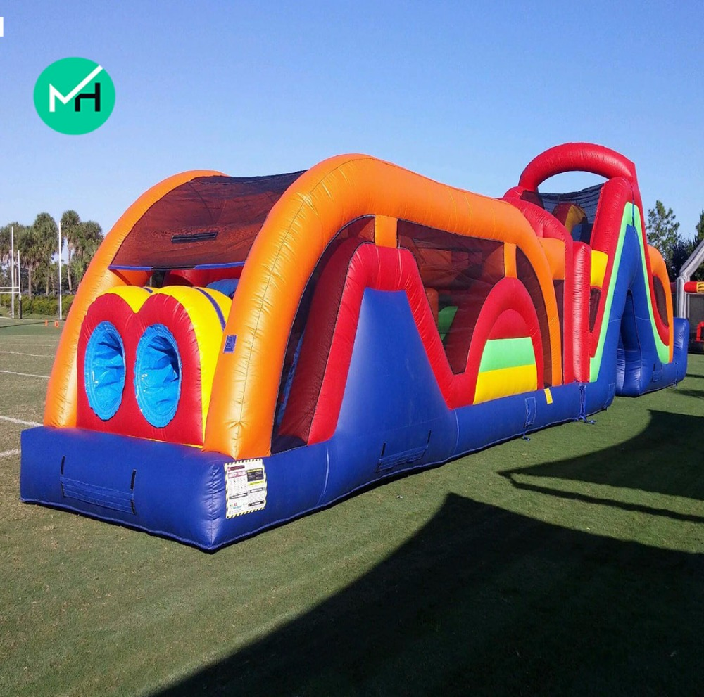 huge land obstacle combo inflatable with holes obstacle course games hot sale inflatable obstacle