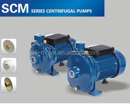 Centrifugal Water Pump SCM2-45 1HP Alu wire Stainless Steel/Brass/Plastic Impeller single-phase 1hp