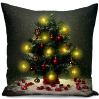 "Merry Christmas New Series 18"" X 18"" Throw Pillow Case Lighting LED Cushion Cover"