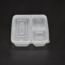 Customized 3 Compartments Plastic Blister Tray for Food