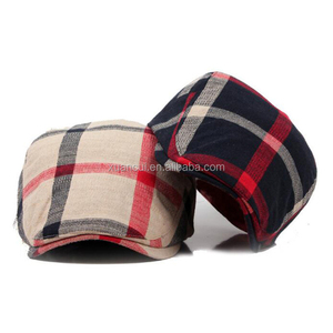 33f75896498 Customized Design Your Own Logo Duckbill Plaid Driver Hat Cap plaid newsboy  ivy cap for men
