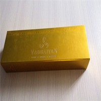 Luxury gold color 2 pieces box for chocolate , rectangle Valentine's Day gift paper box for chocolate