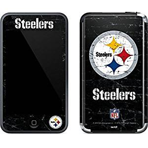 NFL Pittsburgh Steelers iPod Touch (1st Gen) Skin - Pittsburgh Steelers Distressed Vinyl Decal Skin For Your iPod Touch (1st Gen)