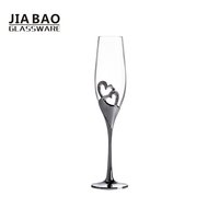 Exquisite lead free crystal goblet wine glass with stainless steel foot, champagne goblets for wedding
