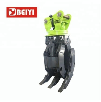CE approved hydraulic excavator rotating grapple ,excavator grapple, log grapple for excavator