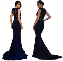 ASSUN 2018 backless black hollow out spandex mermaid <span class=keywords><strong>prom</strong></span> avond party <span class=keywords><strong>dress</strong></span>