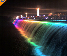 Colorchanging Outdoor Waterfall Fountain in Bridge