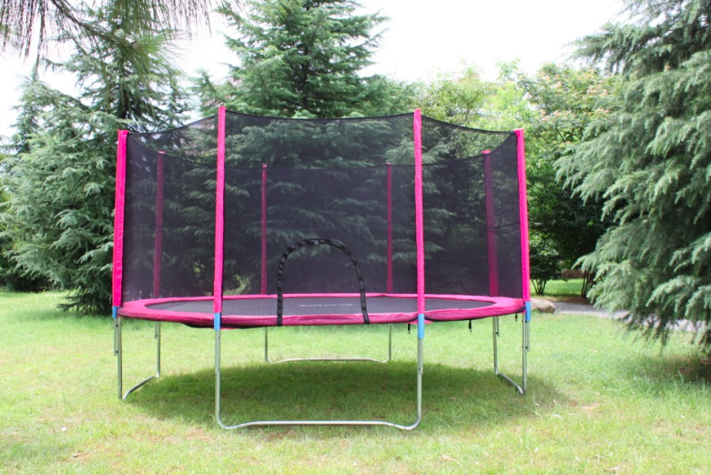 Cheap round mini 1-5m indoor fitness gymnasium jumping bed with trampoline for workout playground