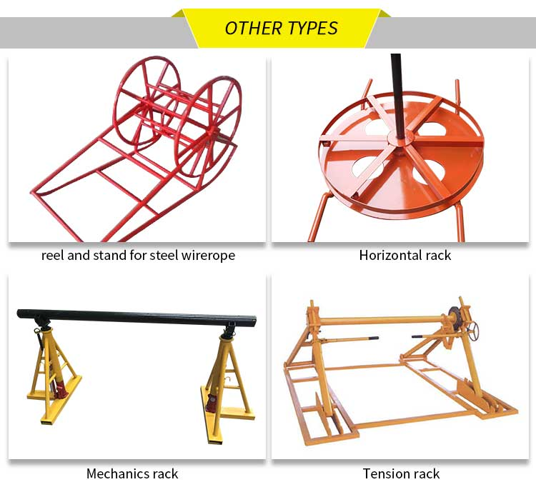 Cable Reel Stand with different types