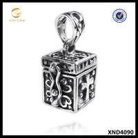 Antique Prayer Box 925 Sterling Silver Prayer Box Pendant Jewelry