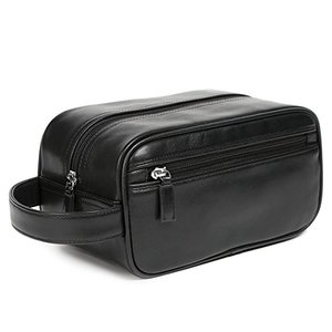 caf39882743a Women Men s leather Travel Portable Cosmetic Bag makeup bag