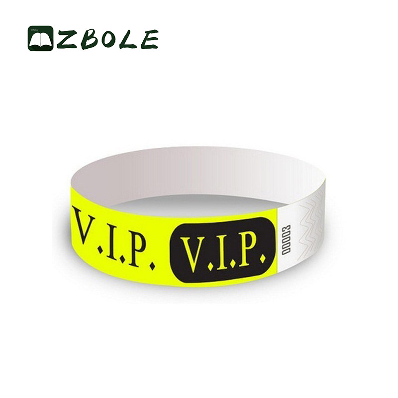 Customized Cheap Tyvek Band Paper Wristband Tyvek Wristbands For Party And Events