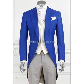 8b2023f31 2018 nuevos hombres de moda real novio azul largo esmoquin de frac mejor  hombre boda personalizado