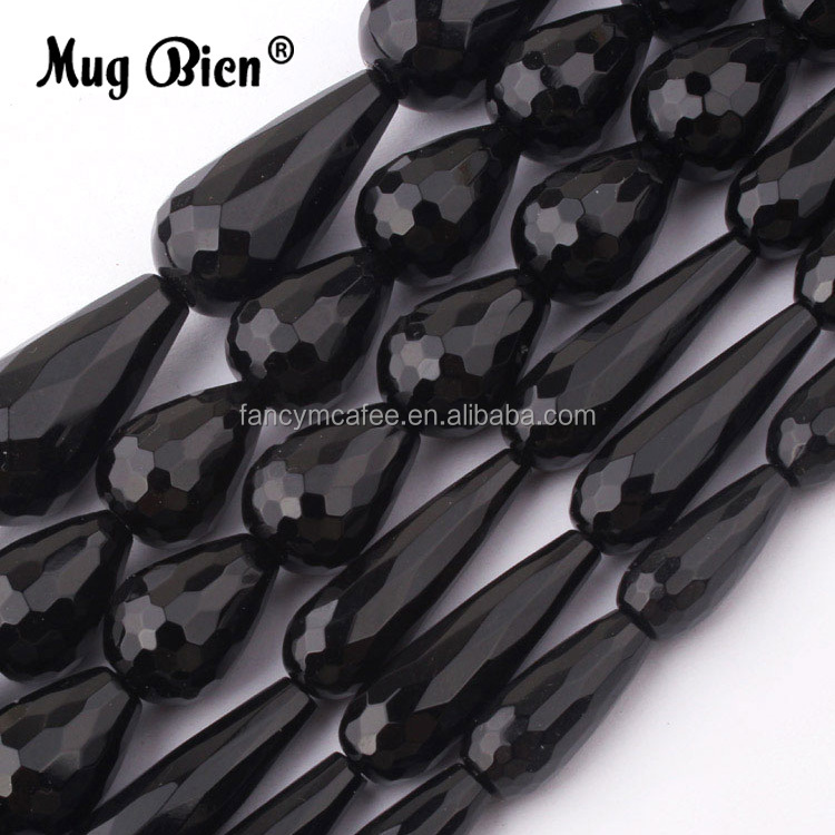 High Quality Drop Shaped Glass Crystal Black Beads For DIY Necklace