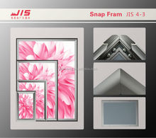 Aluminum picture frame,photo frame,32 mm profile straight corner Aluminum Photo Frame JIS4-3
