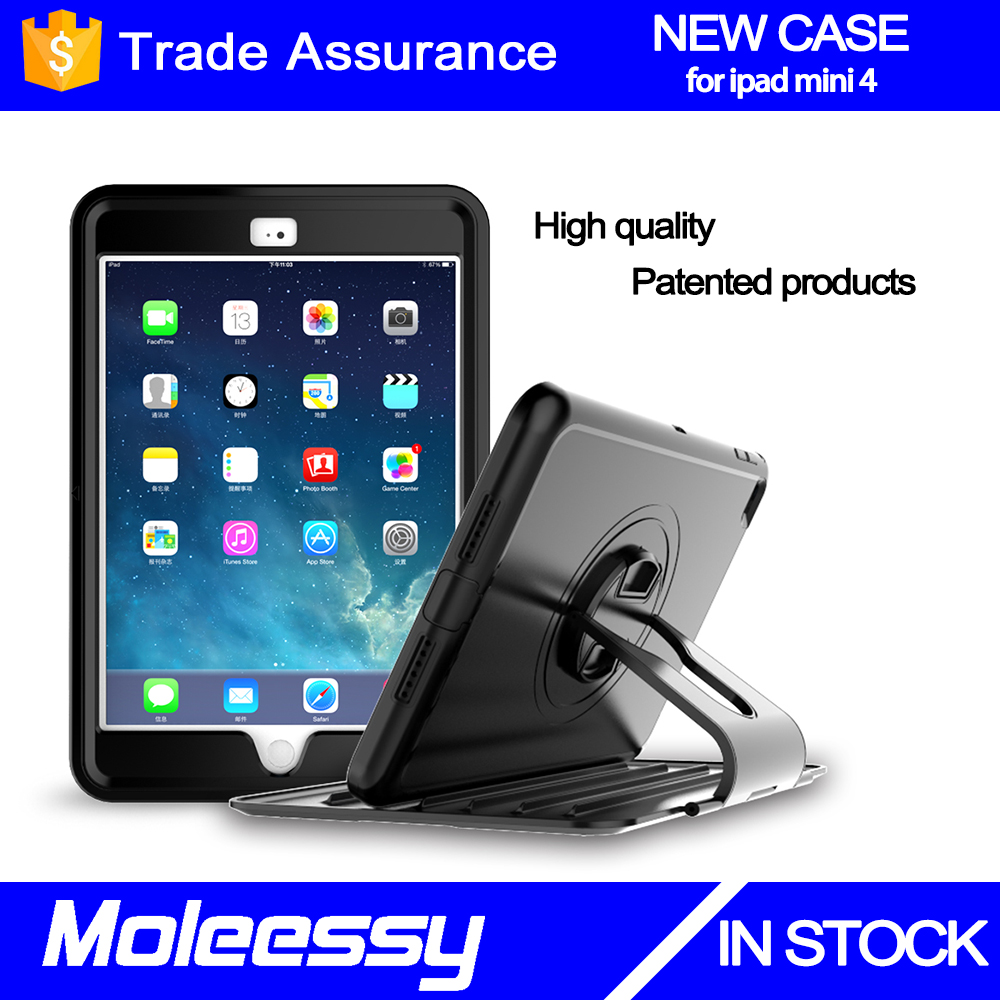 Full-equipped plant outlet 360 degree rotate smart cover for ipad mini 4