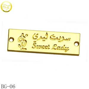 Zinc Alloy Brand Grments Logo Designs Engraving Name Clothing Metal Hang Tags