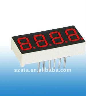 Hot sale! Red color 0.8 inch 4 digits led digital display number