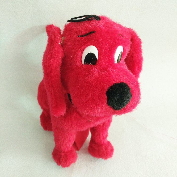 Factory cheap price OEM Soft Red Plush Stuffed Dog Standing Dog Plush Dolls