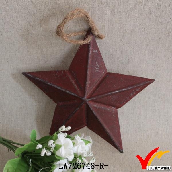 wholesale art minds star red chic recycled iron crafts
