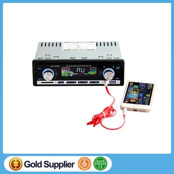 Autoradio Car Radio 12v / 24v Bluetooth Stereo In-dash 1 Din Fm Aux Input  Receiver Sd Usb Mp3 Mmc Wma Car Radio Player - Buy Car Radio
