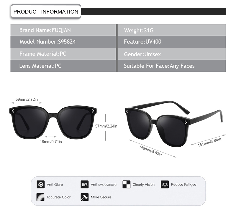 Fuqian boating sunglasses customized for lady-7