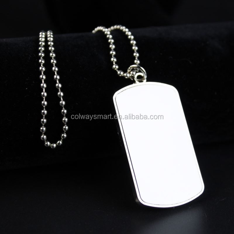 Custom Printing Metal Blank Sublimation New Xvideos Name Pet Dog ID Tag with chain