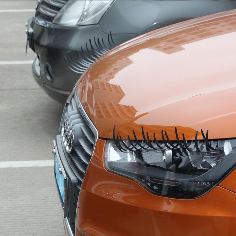 3D Car Styling Charming Black False Eyelashes Sticker,Car