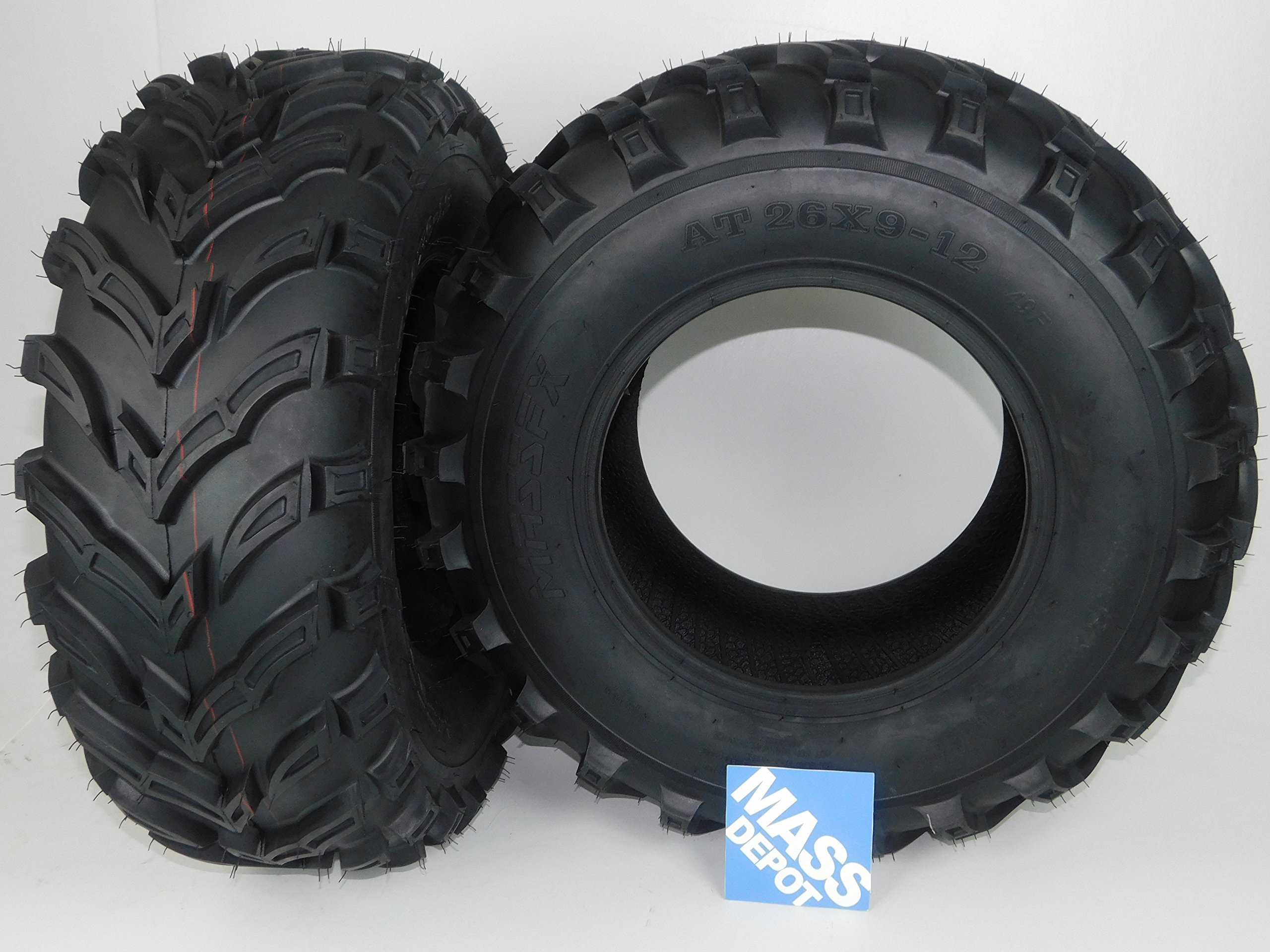 New MASSFX MS ATV/UTV Tires 26 x9-12 Front, Set of 2 26x9x12 26x9/12