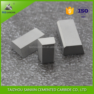 solid taizhou sanxin welding tips as A116/420/425 carbide cutting inserts tungsten carbide brazed tips