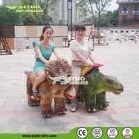 Outdoor Playground Animatronic Animal Dinosaur Rides With Human Control