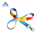 Flat polyester cheap personalize single custom sublimation lanyard no minimum order & free sample