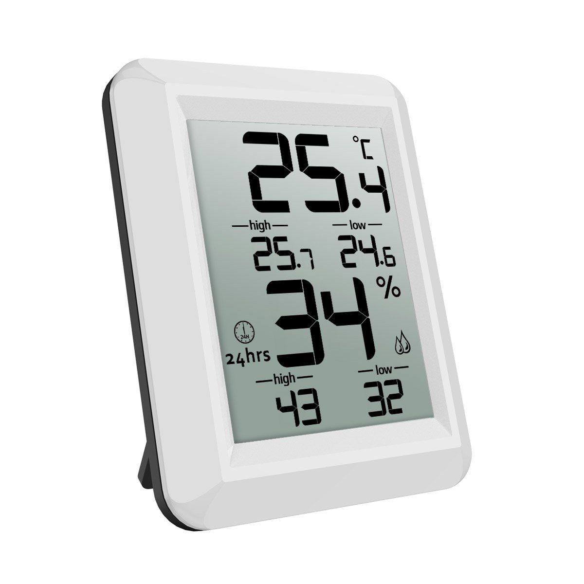 ORIA Temperature Humidity Monitor, Digital Hygrometer Thermometer, Thermometer Hygrometer Indoor, ℃/℉ Switch, LCD Screen, MIN/MAX Records, for Warehouse, Home, Office, Greenhouse, Babyroom