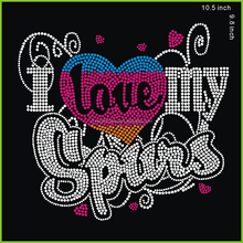 I Love My Spurs Rhinestone Transfer Basketball for t shirt