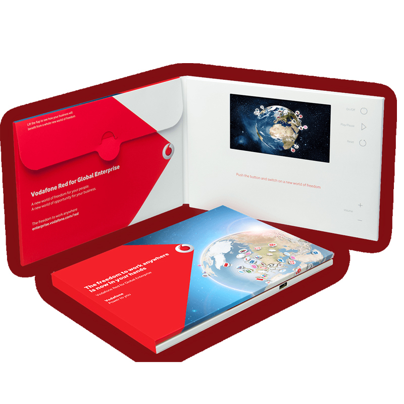 marketing graphic design Card Custom video presentation boxes Portable business card brochure
